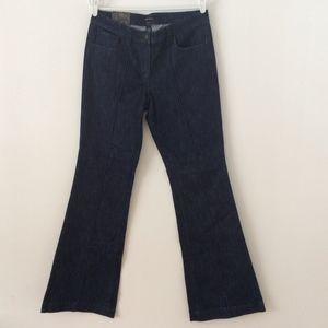 New York & Company Flared Blue Denim Jeans 10 Tall